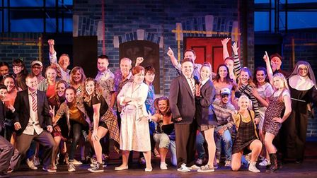 The cast of St Albans Musical Theatre Company's production of Our House at The Alban Arena. Picture: