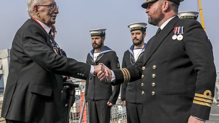 Leonard Williams, 93, ahead of the D-Day 75th anniversary which will see HMS St Albans leading a shi