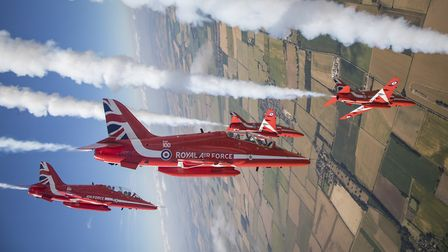 The Red Arrows will return to the Flying Legends air show at IWM Duxford this July, one of the few o