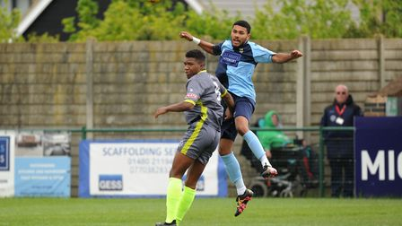 Stevan Shaw of St Neots Town in action during their 1-1 draw with Halesowen on the final day of the
