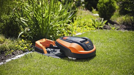 1. The Flymo 1200 R robotic lawnmower and charging station. Picture: Flymo/PA
