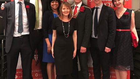 St Albans and District Chamber of Commerce St George's Day lunch 2019 - sponsors Debenhams Ottaway.