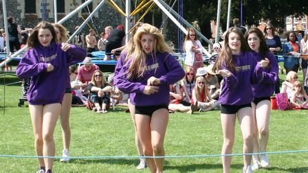 Dancers from Stageright Dance School entertain the crowds