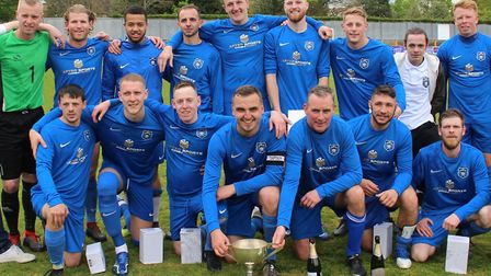 AFC London Road, the 2019 winners of the Herts Advertiser Intermediate Cup. Picture: BRIAN HUBBALL