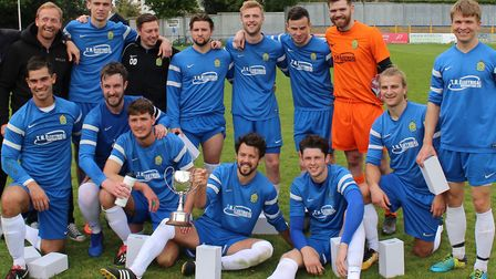 Skew Bridge, the 2019 winners of the Herts Advertiser Challenge Cup. Picture: BRIAN HUBBALL