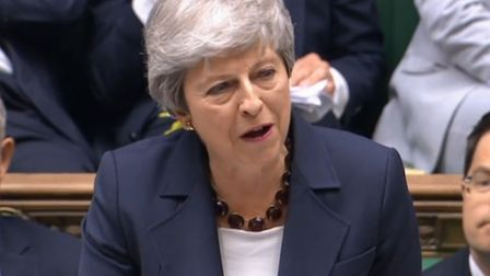 Theresa May speaking at her penultimate prime minister's questions in the House of Commons (Pic: Par
