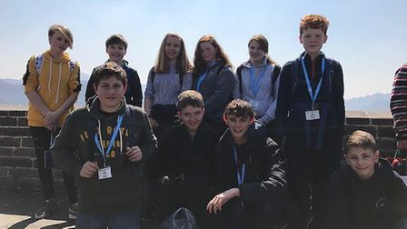 Melbourn Village College students joined Comberton Village College students for their first trip as