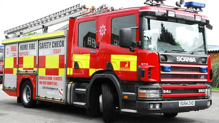 Two fire engines attended a crash in St Albans. Picture: FIRE SERVICE.