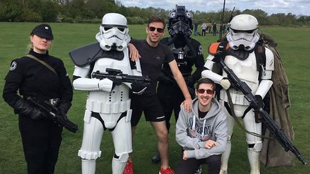There was a Star Wars theme at the Huntingdon parkrun on May 4. Pictures: CONTRIBUTED