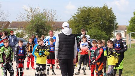 Royston Rockets BMX Club were given a masterclass by double Olympic champion Maris Strombergs. Pictu