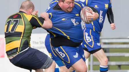 Josh Dear on the charge for St Ives in the Hunts & Peterborough Cup final. Picture: PAUL COX