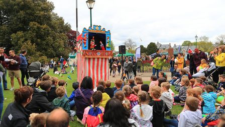 Adults and children alike love a Punch & Judy Show. Royston May Fayre 2019. Picture: KEVIN RICHARDS