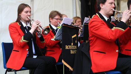 Royston Town Band play at the Royston May Fayre 2019. Picture: KEVIN RICHARDS