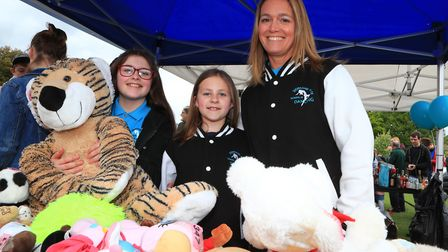 Lots of cuddly toys to be won from Stephanie Prior School of Dancing stall at the Royston May Fayre