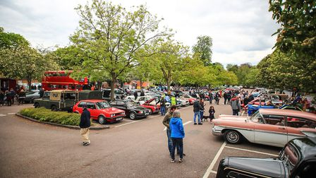 A full town carpark of classic and vintage vehicles for the Royston May Fayre 2019. Picture: KEVIN R
