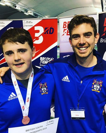 Paul Davis Fencing Academy's Tom Heath won bronze in the U14 sabre at the British Youth Championship