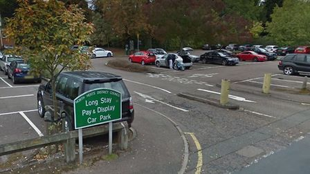 Travellers have pitched up at Royston's Civic Centre Car Park, which is owned by North Herts Distric