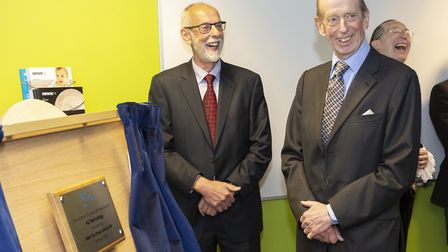 Howard Biddle with the Duke of Kent. Picture: DAVID JOHNSON PHOTOGRAPHIC