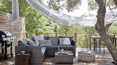 Conjure A Chill Out Zone: Alora Garden Modular Corner Lounge Set, Grey, 799; Outdoor cushions from 1