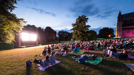 This year's St Albans Film Festival will once again feature open air cinema outside St Albans Cathed