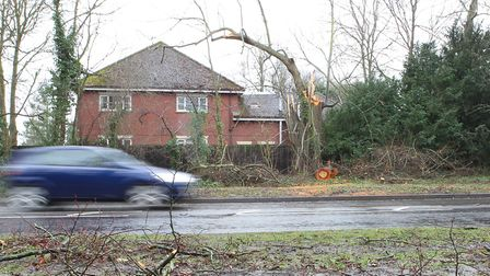The A600 Bedford Road in Ickelford.