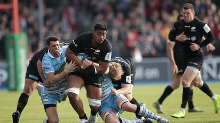 Saracens' Will Skelton during the European Champions Cup quarter final match at Allianz Park, London