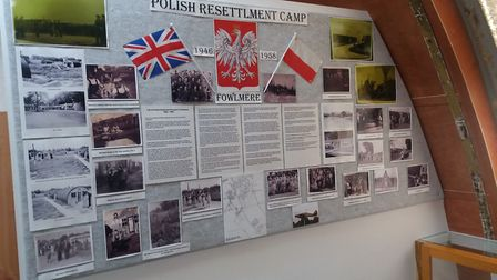 Henry Sterecki's Polish Resettlement Camp corner at Fowlmere Airfield Museum. Picture: Henry Stereck