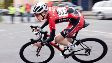 Sean Purser during the Ixworth Criteriums race. Picture: NATHANIEL ROSA