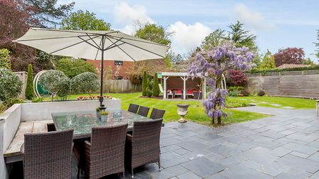 The large rear garden is ideal for entertaining. Picture: Strutt & Parker