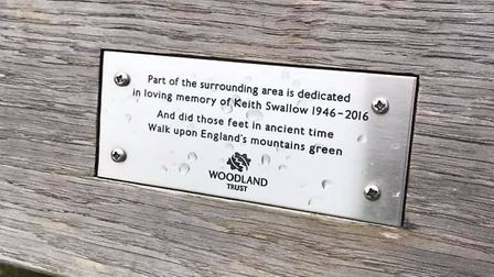 Keith Swallow's memorial bench overlooks the Thameslink line in Heartwood Forest. Picture: Clare God