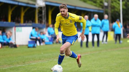 James Kaloczi in action for St Albans City. Picture: DANNY LOO