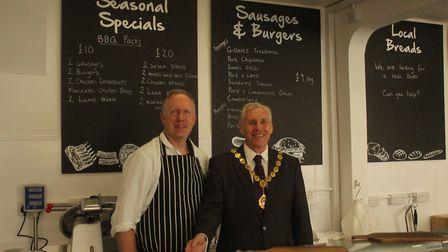 Andy Gilbert alongside Cllr Barry Chapman. Picture: ARCHANT