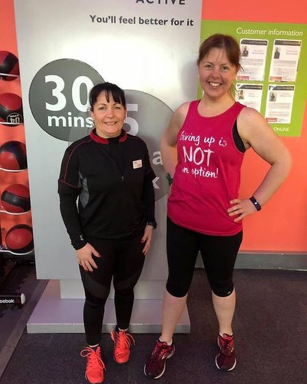 Ann Rogers with Small Group Training instructor and personal trainer Wendy Martin. Picture: Westmins