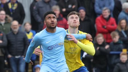 Lewis Knight is leaving St Albans City to join Maidstone United. Picture: JIM STANDEN