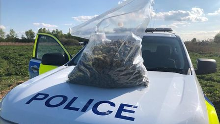Officers searched two trailers where they found £45,000 worth of cannabis.