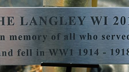 The Langley WI raised money for the plaque in the village of Heimingford Grey