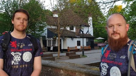 Rob Riches and Alex Chapman from St Albans are taking part in the London 2 Brighton Challenge to rai