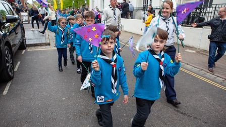 St Albans Scouts took part in a world record attempt to make the largest human fleur-de-lis at the S