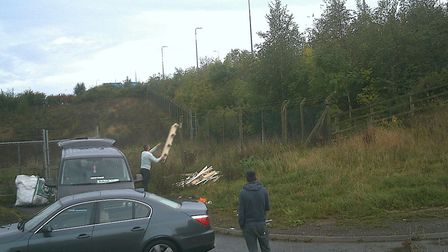 Ionut Damian was prosecuted after allowing his van to be used to fly-tip rubbish in Hogg End Lane ne