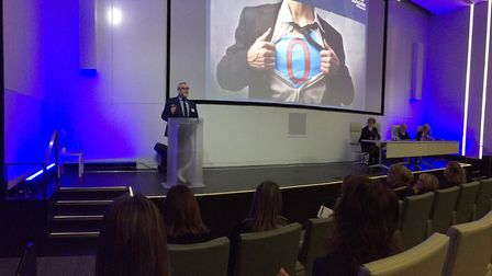 Joe Rafferty, chief executive at Mersey Care NHS Foundation Trust, speaking at the launch of the Zer