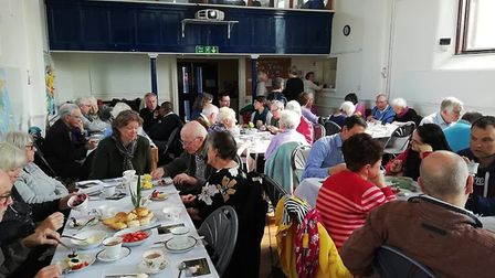 Cream tea held on May 11 to celebrate missionary housing project in Redbourn.