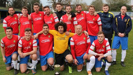 Skew Bridge Rothamsted won the Herts Advertiser Knockout Cup with a 1-0 win over Blackberry Jacks at