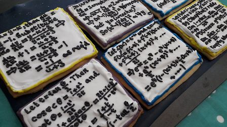 St Albans teacher Ella Dickson painted biscuits for her further maths A-Level class. Picture: Ella D