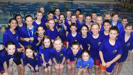 St Albans District Primary Schools Swimming team won the Herts Inter-District Swimming Championship
