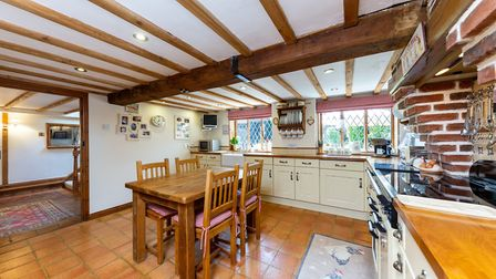 There is a modern kitchen/breakfast room to the rear of the property. Picture: Charter Whyman