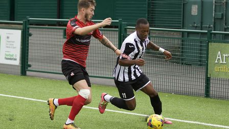 St Ives Town man Munashe Sundire is attracting attention from other clubs. Picture: LOUISE THOMPSON