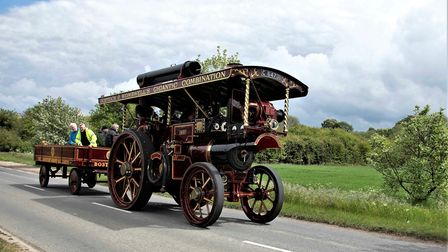 The Showman's engine en route to Bassingbourn. Picture: John Moore