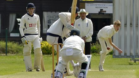 Matthew Wells bowled a final-over maiden as St Ives & Warboys beat Ufford Park. Picture: DUNCAN LAMO