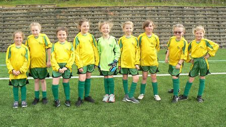 The Bushmead Primary School team at the girls' football tournament. Picture: SUBMITTED