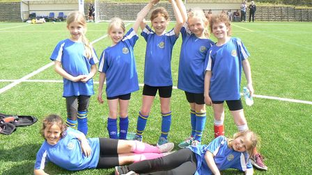 The St Helen's Primary School team at the tournament. Picture: SUBMITTED